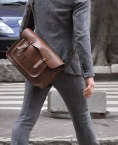 Satchel bags in men's wardrobe